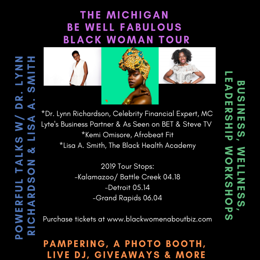 Afrobeat Fit Be Well Fabulous Black Woman Tour 2019